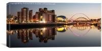 River Tyne Panorama, Canvas Print