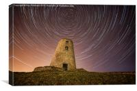 Cleadon Mill with Star Trails, Canvas Print