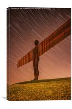 Angel of the North at Night, Canvas Print
