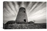 The Old Mill on Cleadon Hills, Canvas Print