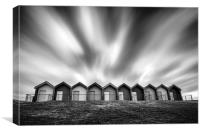 Blyth Beach Huts, Canvas Print