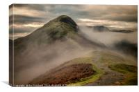 Catbells in the Clouds, Canvas Print
