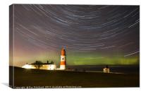 Aurora at Souter Lighthouse , Canvas Print
