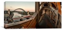 Tyne bridge from High Level Bridge, Canvas Print
