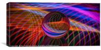 Art with Light, Canvas Print