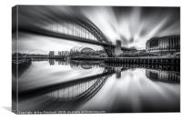 Zoomed Tyne Bridge, Canvas Print