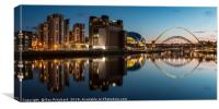 View of the Gateshead Riverside, Canvas Print
