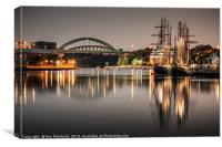 Tall Ships on the River Wear, Canvas Print