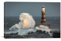 Roker Lighthouse, Canvas Print