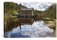 Gibson Mill in Hardcastle Crags nature park,   , Canvas Print