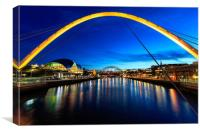 Newcasle Quayside, Canvas Print