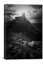 Brentor church , Canvas Print