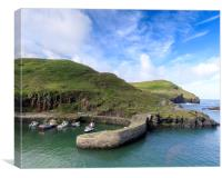 Boscastle North Cornwall , Canvas Print