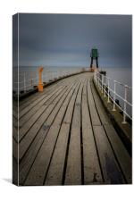 Whitby Pier    , Canvas Print