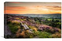 Yorkshire Sunset  , Canvas Print