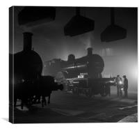 Barrow Hill Roundhouse , Canvas Print