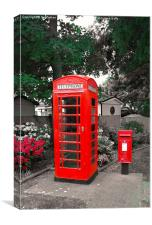 GPO phonebox and PO letterbox, Canvas Print