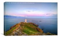 Start point lighthouse in the South hams at sunris, Canvas Print