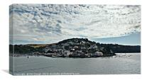 View Across to Kingswear from Dartmouth - Morning, Canvas Print