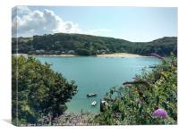 View from Salcombe Across the Estuary, Canvas Print