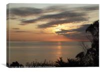 Dawn Sunrise over Start Bay from Torcross, Canvas Print