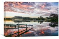 Knapps Loch Dawn , Canvas Print