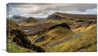 Quirrang, Isle of Skye, Canvas Print