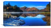 Derwent Water - A Winter's Day, Canvas Print