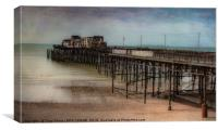 HASTINGS' PIER, EAST SUSSEX - AFTER THE FIRE, Canvas Print