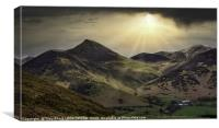 EASTERN FELLS OF DERWENT WATER VIEWED FROM CATBELL, Canvas Print