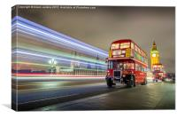 Westminster Buses, Canvas Print