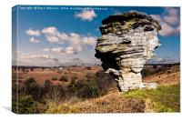 The Pepperpot Bridestone, Canvas Print