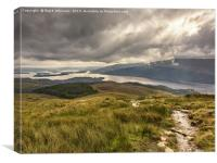 Ben Lomond to The Loch, Canvas Print