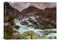 Gray skys over Tryfan, Canvas Print