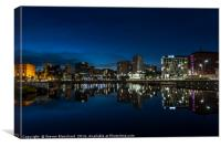 Salthouse dock Liverpool at night, Canvas Print
