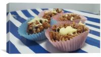 Home Made Rice Crispie Cakes, Canvas Print
