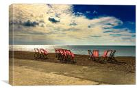 Abandoned Deck Chairs, Canvas Print