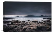 The Black Cuillins from Elgol Beach, Canvas Print