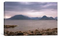The Black Cuillins, Canvas Print