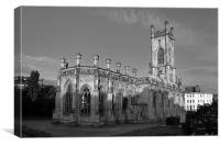 LIVERPOOL BOMBED OUT CHURCH BLACK AND WHITE, Canvas Print