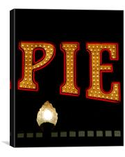 Pie at  the Pier, Canvas Print