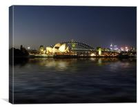 sydney harbour night, Canvas Print