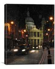 St Paul's Cathedral in the snow, Canvas Print