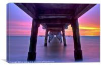 Deal Pier Sunrise, Canvas Print