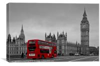 Big Ben and Red London Bus, Canvas Print