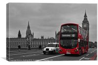 Red Bus and Big Ben, Canvas Print