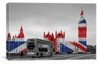 Big Ben Union Jack, Canvas Print