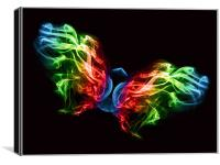 Smoke Butterfly, Canvas Print