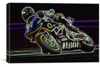 Motorbike Racing, Canvas Print