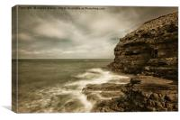 The incoming tide at The Wherry, Canvas Print